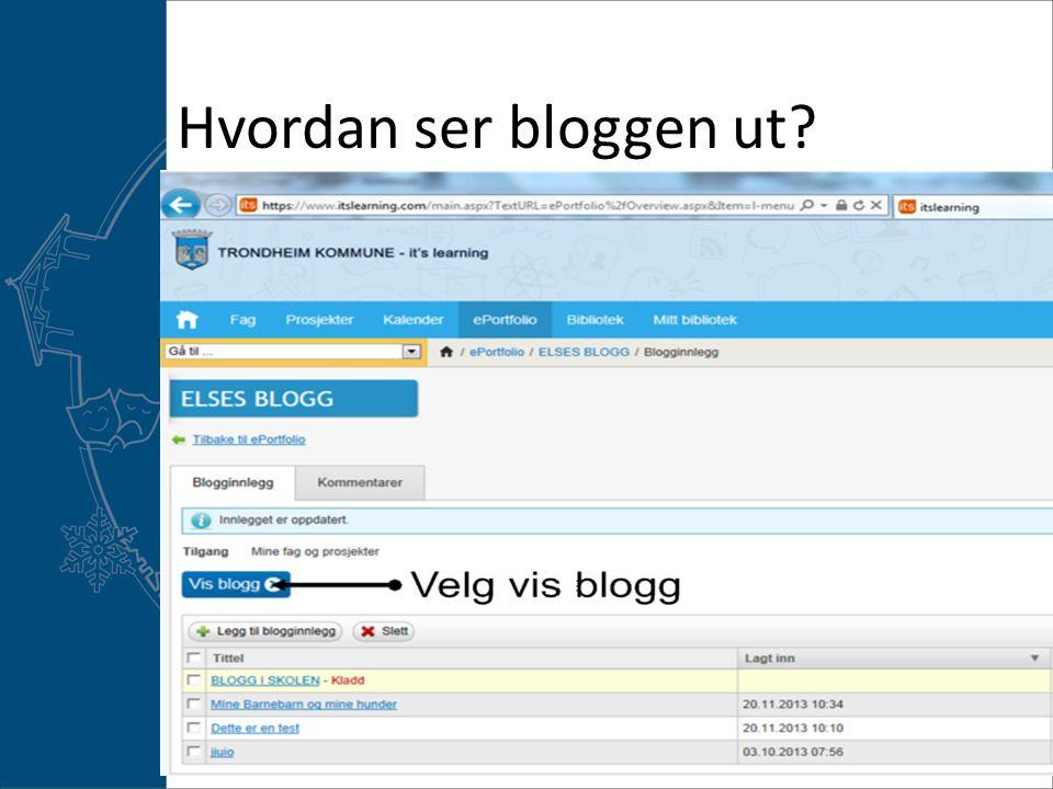 Hvordan ser bloggen ut