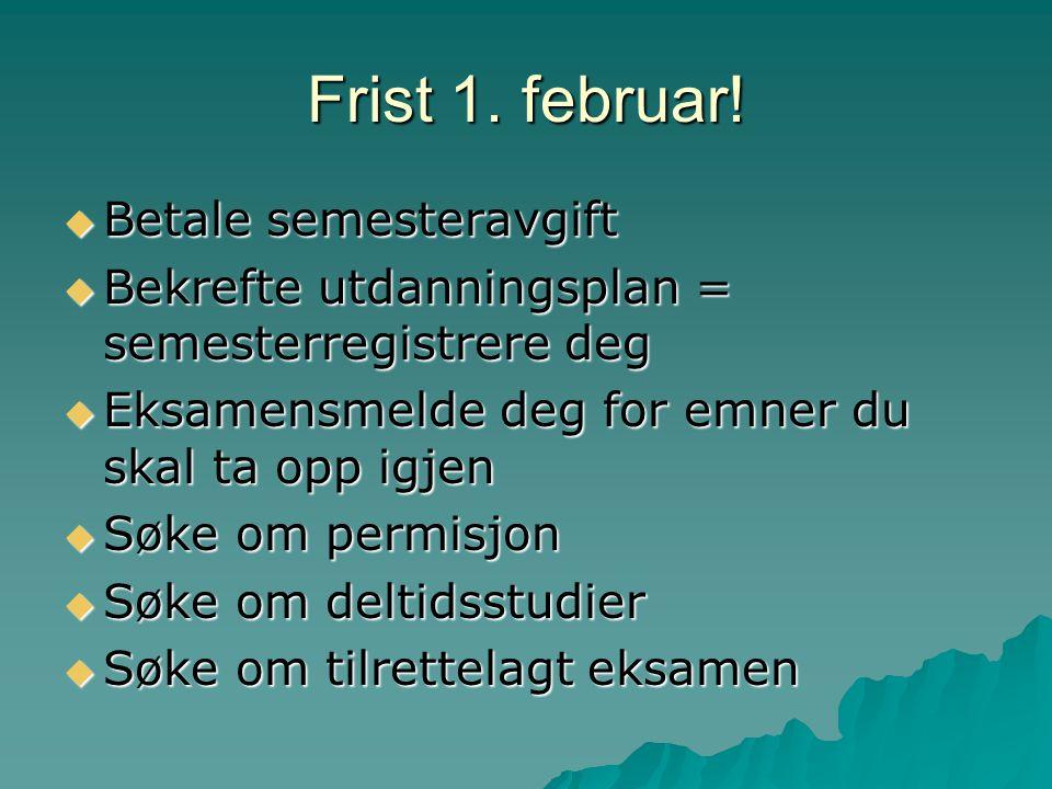 Frist 1. februar.