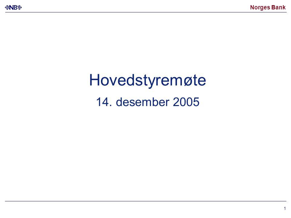 Norges Bank 1 Hovedstyremøte 14. desember 2005