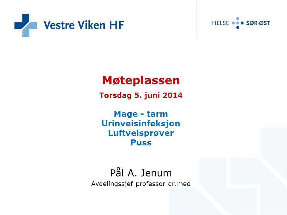 Møteplassen Torsdag 5. juni 2014 Mage - tarm Urinveisinfeksjon Luftveisprøver Puss Pål A. Jenum Avdelingssjef professor dr.med
