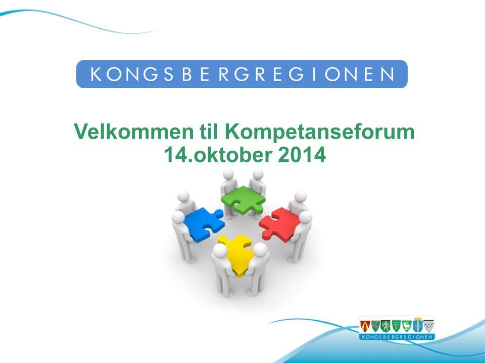 Velkommen til Kompetanseforum 14.oktober 2014