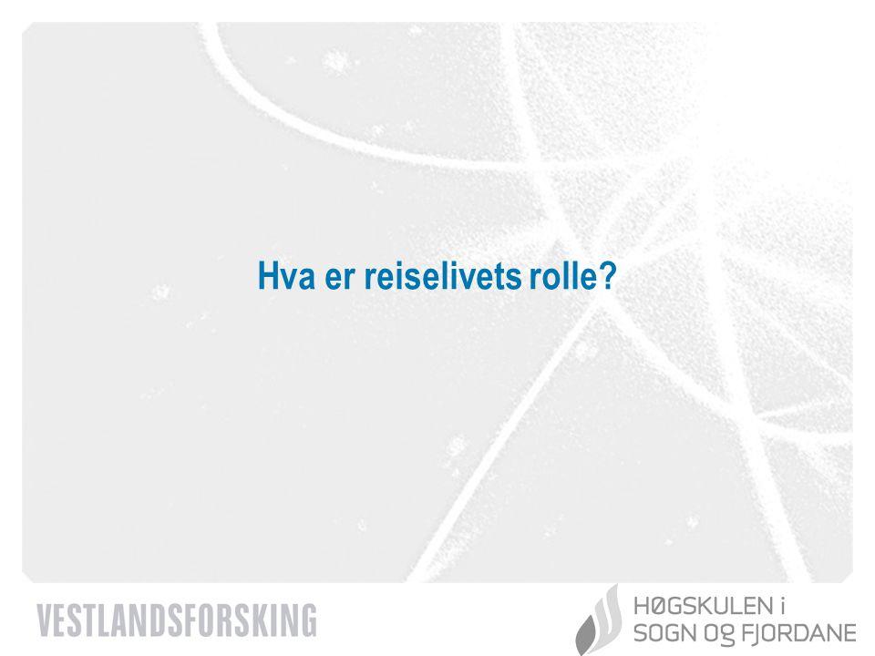 www.vestforsk.no Hvilke premiss blir lagt til grunn for den langsiktige reiselivsutviklingen.