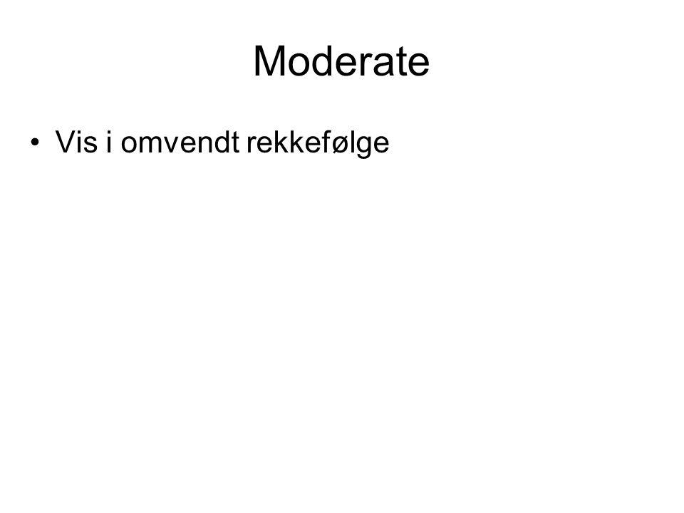 Moderate Vis i omvendt rekkefølge