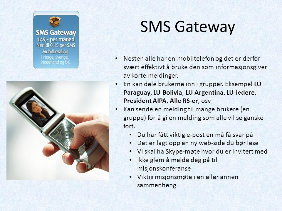 Nesten alle har en mobiltelefon og det er derfor svært effektivt å bruke den som informasjonsgiver av korte meldinger.