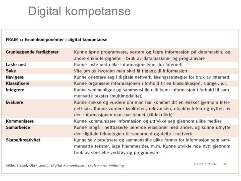 Digital kompetanse Mattias Øhra 201218