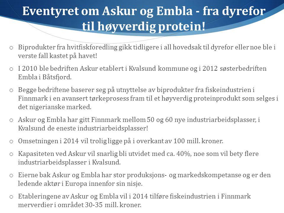 Eventyret om Askur og Embla - fra dyrefor til høyverdig protein.