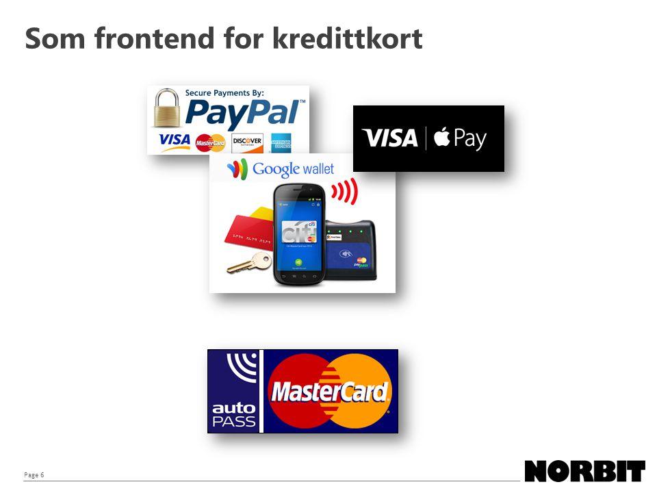 Page 6 Som frontend for kredittkort