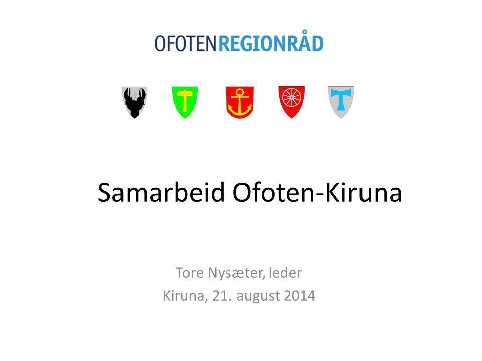 Om Ofoten regionråd Ofoten regionråd er et samarbeidsorgan mellom kommunene Ballangen, Evenes, Narvik, Tjeldsund og Tysfjord, og er organisert iht.