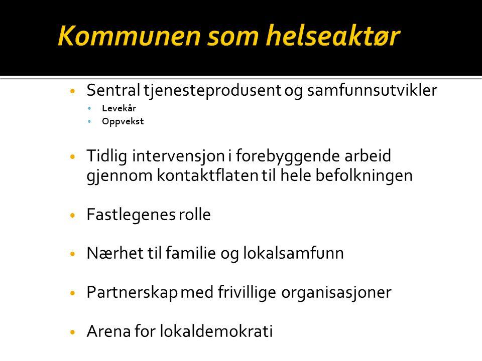 Kommunehelsetjenesten  Lokalmedisinsk senter  Faglig skammel i kommunen Spesialisthelsetjenesten