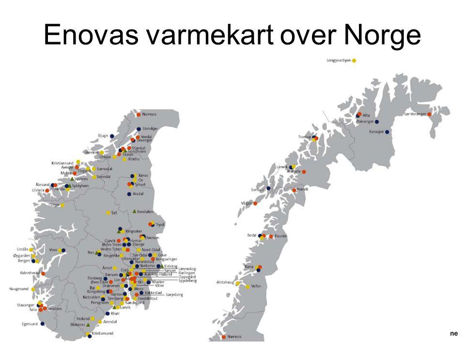 Enovas varmekart over Norge