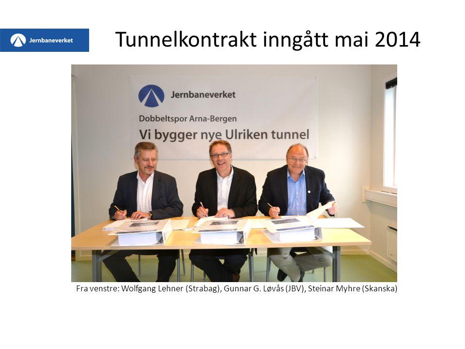 Tunnelkontrakt inngått mai 2014 Fra venstre: Wolfgang Lehner (Strabag), Gunnar G.