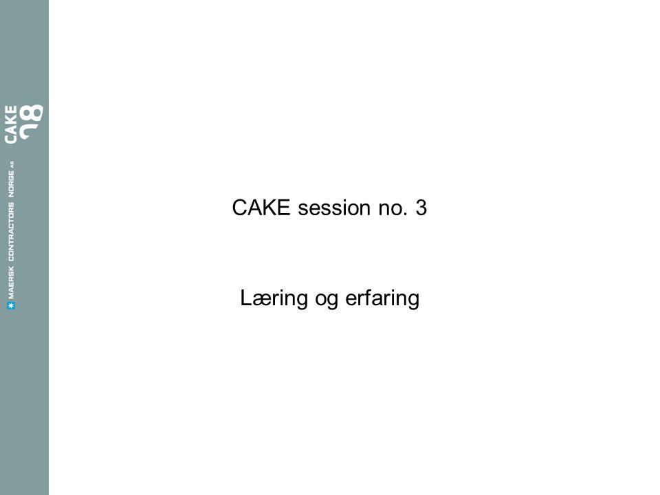 CAKE session no. 3 Læring og erfaring