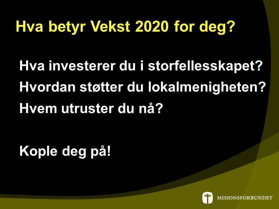 Hva betyr Vekst 2020 for deg. Hva investerer du i storfellesskapet.
