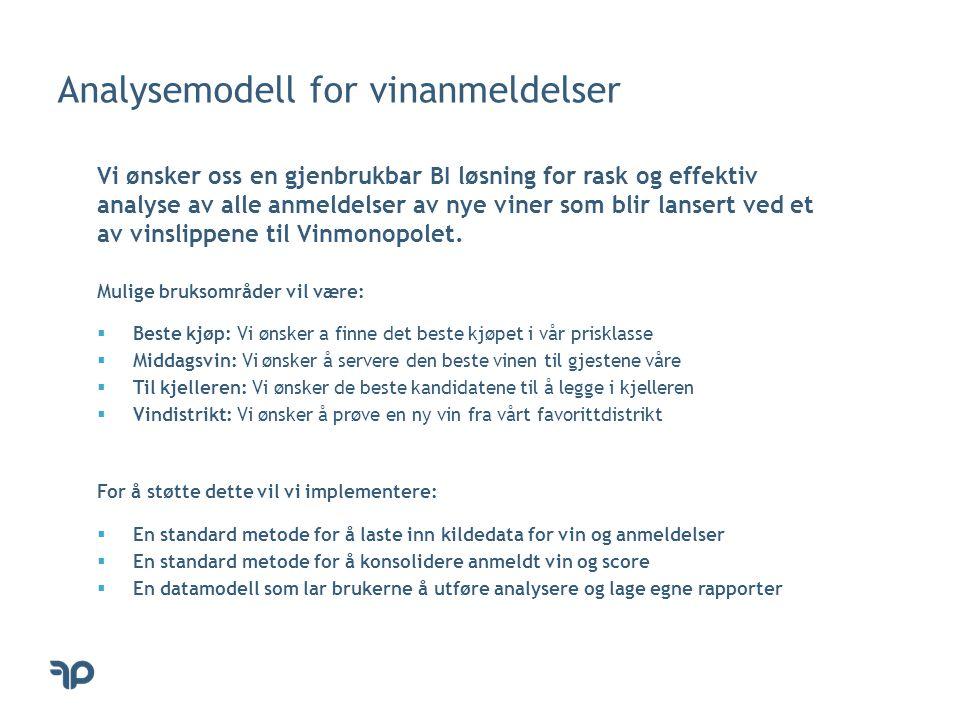Dimensjonstabell for viner analysemodell let Source = Excel.Workbook(File.Contents( D:\Prosjekter\BedreInnsikt\Vin\2014-5-September-Analysemodell\viner.xlsx )), Viner = Source{[Name= Viner ]}[Data], FirstRowAsHeader = Table.PromoteHeaders(Viner), InsertedIndex = Table.AddIndexColumn(FirstRowAsHeader, Index ), RenamedColumns = Table.RenameColumns(InsertedIndex,{{ Index , Vin Key }}), InsertedCustom = Table.AddColumn(ReorderedColumns, Vin , each Number.ToText([Varenummer]) & & [Varenavn] & - kr.