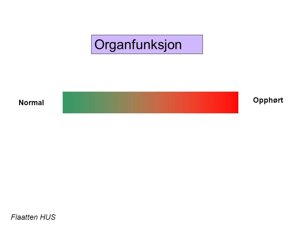 Organfunksjon Normal Opphørt Flaatten HUS