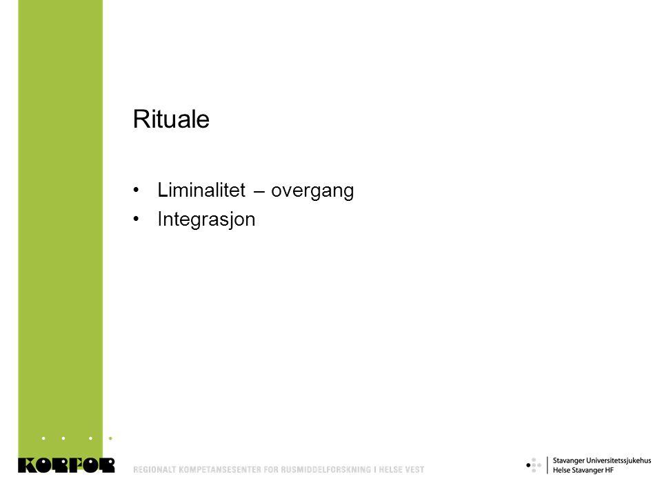 Rituale Liminalitet – overgang Integrasjon