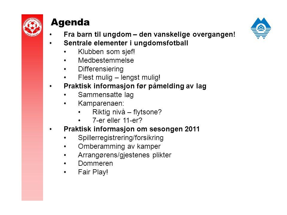 Agenda Fra barn til ungdom – den vanskelige overgangen.