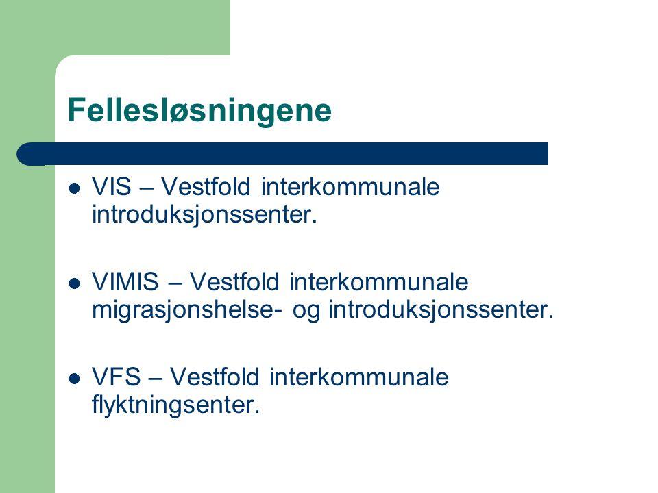 Fellesløsningene VIS – Vestfold interkommunale introduksjonssenter.