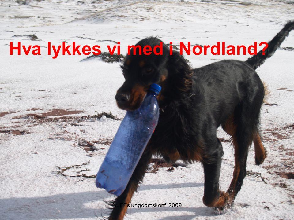 Utfordringer i NJFF-Nordland Involvere lokale JFF Få kontinuitet Nå ut til lokalforeningene Motivere ungdomsledere til å engasjere seg Tid.