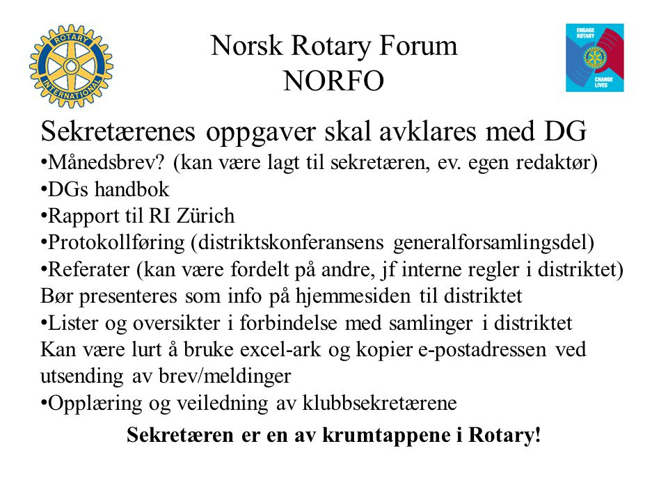Norsk Rotary Forum NORFO