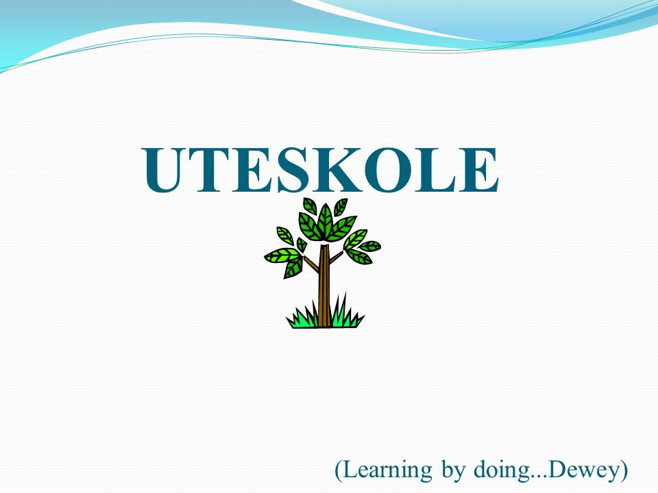 (Learning by doing...Dewey) UTESKOLE
