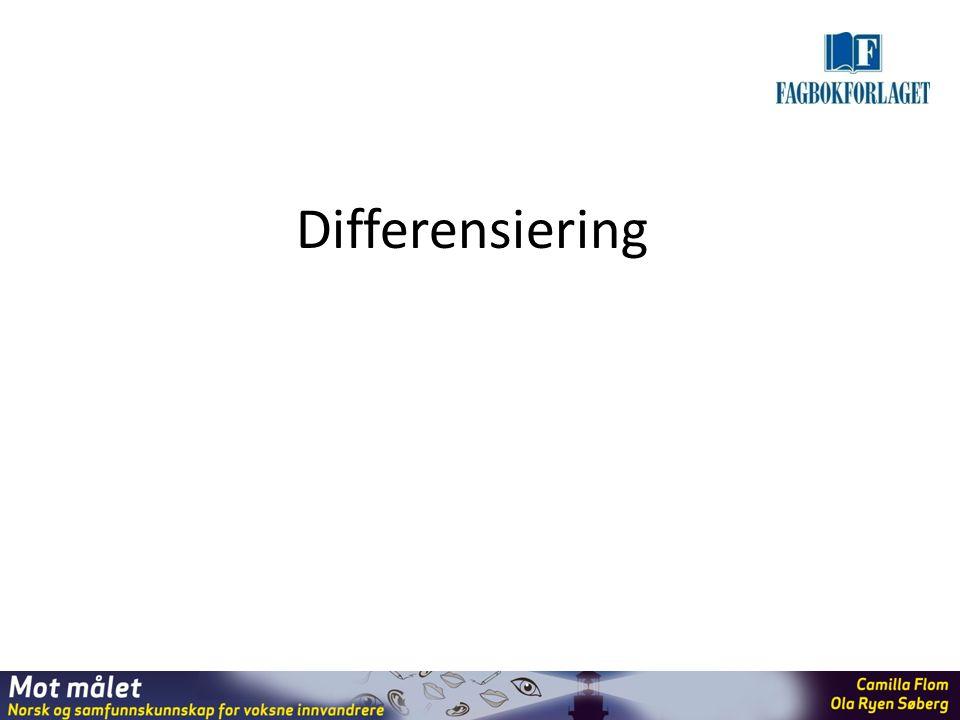 Differensiering