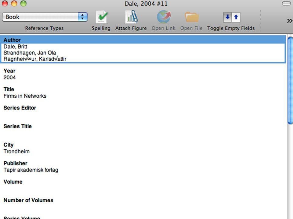 Endnote - skjermdumper Universitetsbiblioteket i Agder32