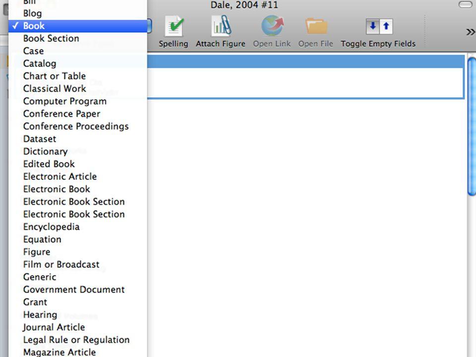 Endnote - skjermdumper Universitetsbiblioteket i Agder33