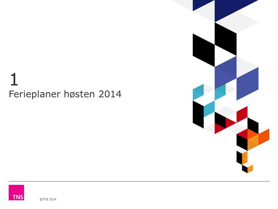 ©TNS 2014 1 Ferieplaner høsten 2014