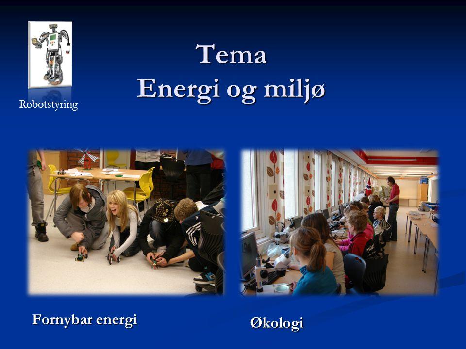 Tema Energi og miljø Fornybar energi Økologi Robotstyring