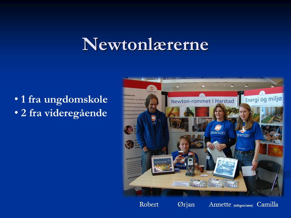 Newtonlærerne 1 fra ungdomskole 2 fra videregående Robert Ørjan Annette (tidligere lærer) Camilla