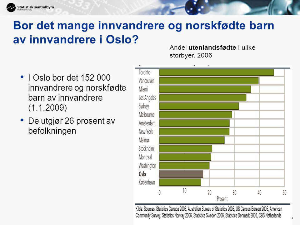 5 Bor det mange innvandrere og norskfødte barn av innvandrere i Oslo.