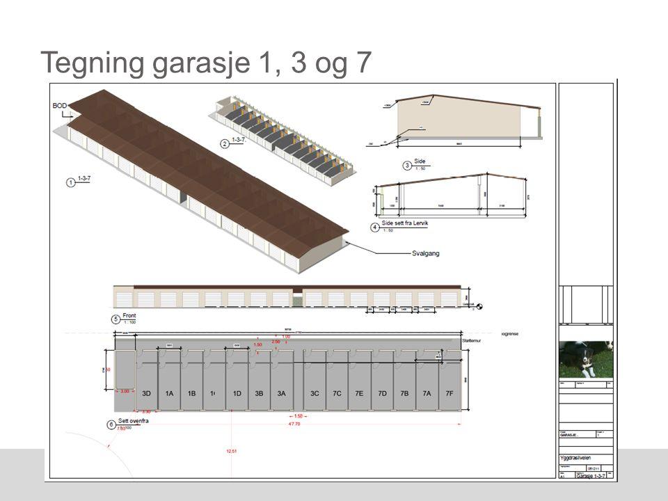 Tegning garasje 1, 3 og 7