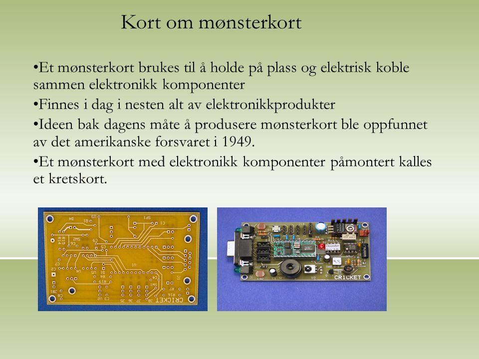 Hvordan produseres mønsterkort?(forenklet): 1)Produseres fra laminater.