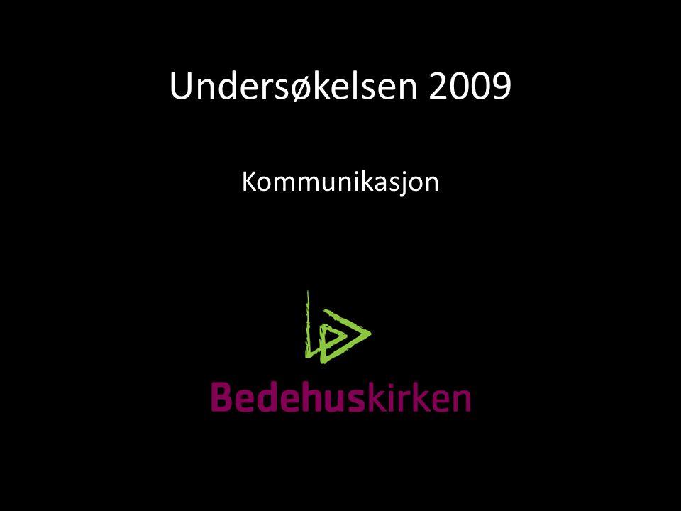 Undersøkelsen 2009 Kommunikasjon