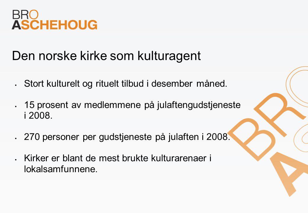 Den norske kirke som kulturagent  Stort kulturelt og rituelt tilbud i desember måned.