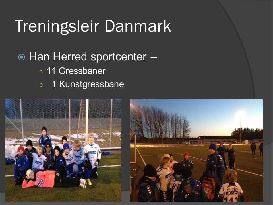 Treningsleir Danmark  Han Herred sportcenter – ○ 11 Gressbaner ○ 1 Kunstgressbane