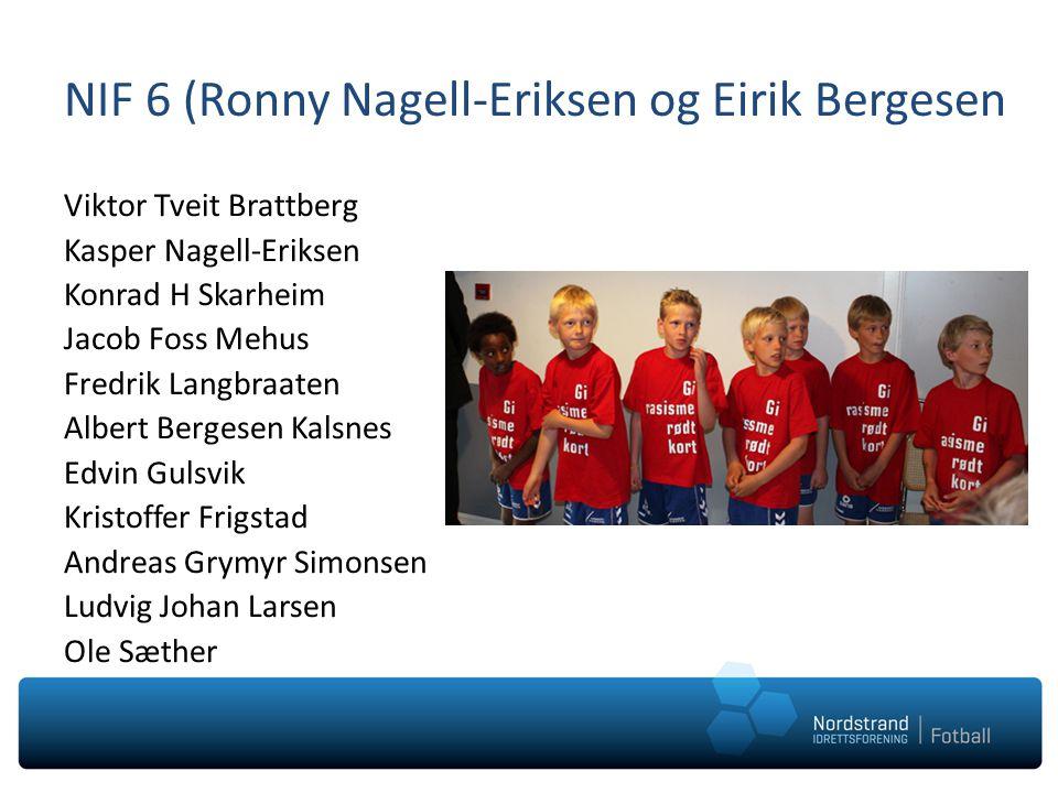 NIF 6 (Ronny Nagell-Eriksen og Eirik Bergesen Viktor Tveit Brattberg Kasper Nagell-Eriksen Konrad H Skarheim Jacob Foss Mehus Fredrik Langbraaten Albe