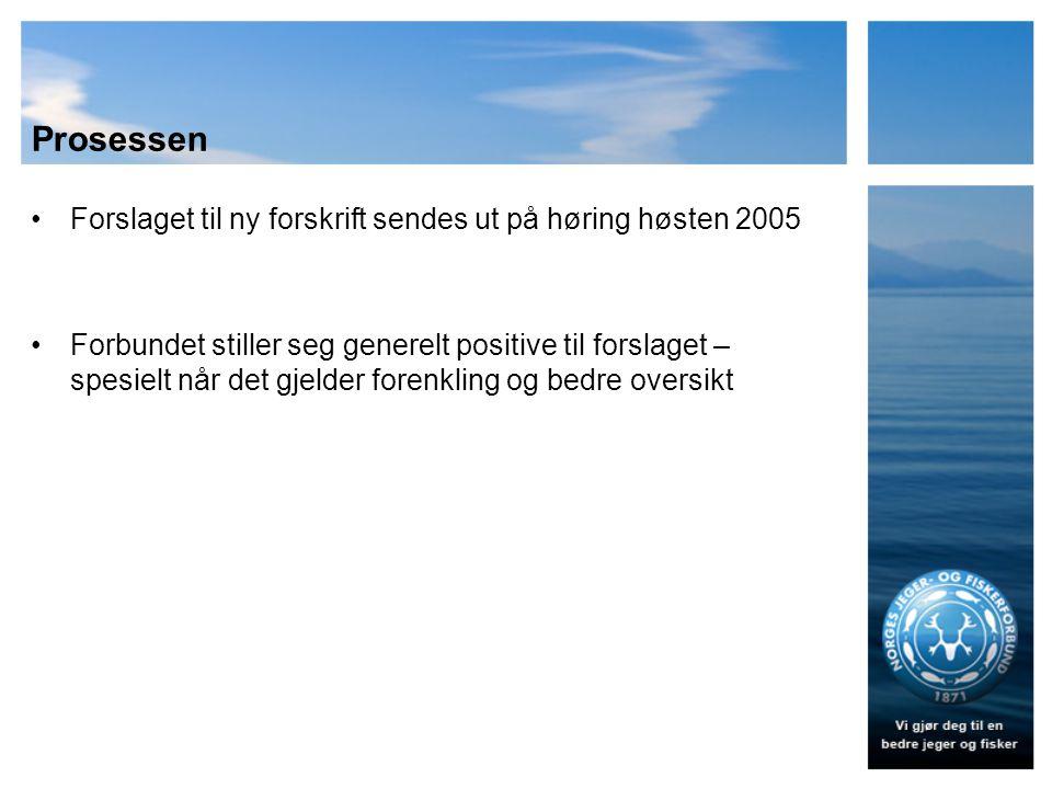 Prosessen 2006 –Vi venter på den nye forskriften 2007 –Vi venter fortsatt på forskriften, og JD lover at den er rett rundt hjørnet 2008 –Vi venter fremdeles, er utålmodige, og etterlyser ny forskrift i brev til JM Storberget.