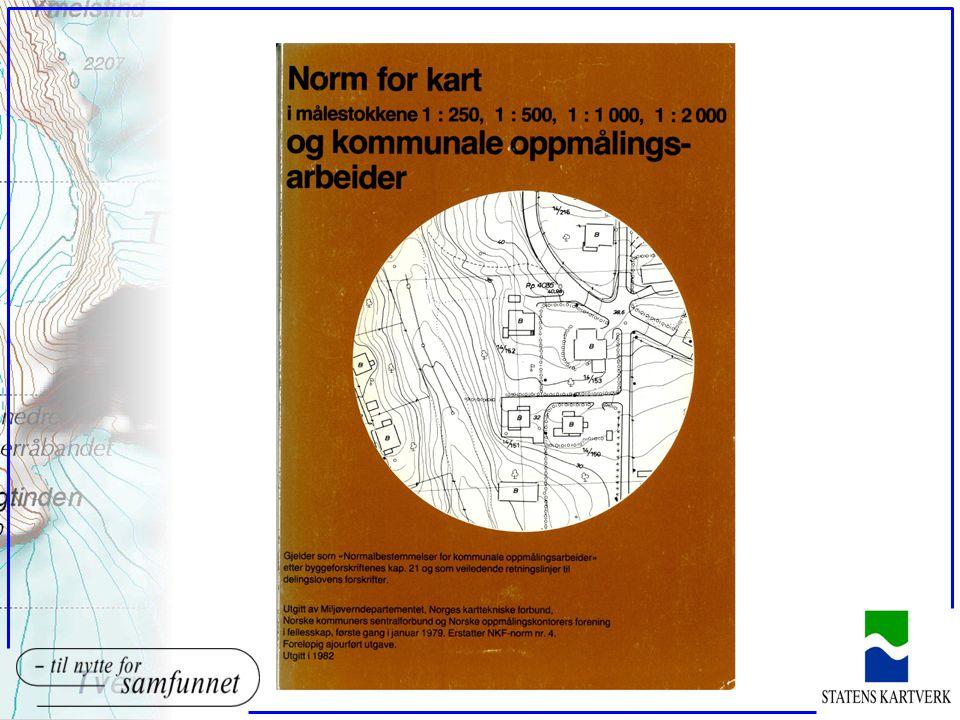 Normen oEt utvalg etablert av NKTF (Geoforum) startet opp arbeidet i 1972.