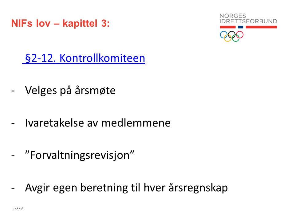 Side 19 Hvorfor foregår det økonomisk kriminalitet i idretten.