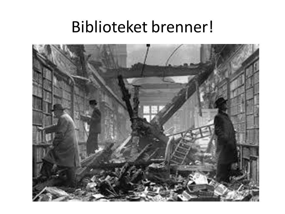 Biblioteket brenner!