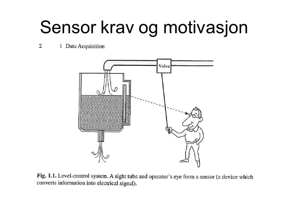 Sensor krav og motivasjon