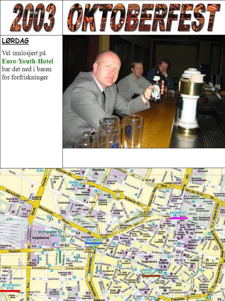 LØRDAG Vel innlosjert på Euro-Youth-Hotel bar det ned i baren for forfriskninger