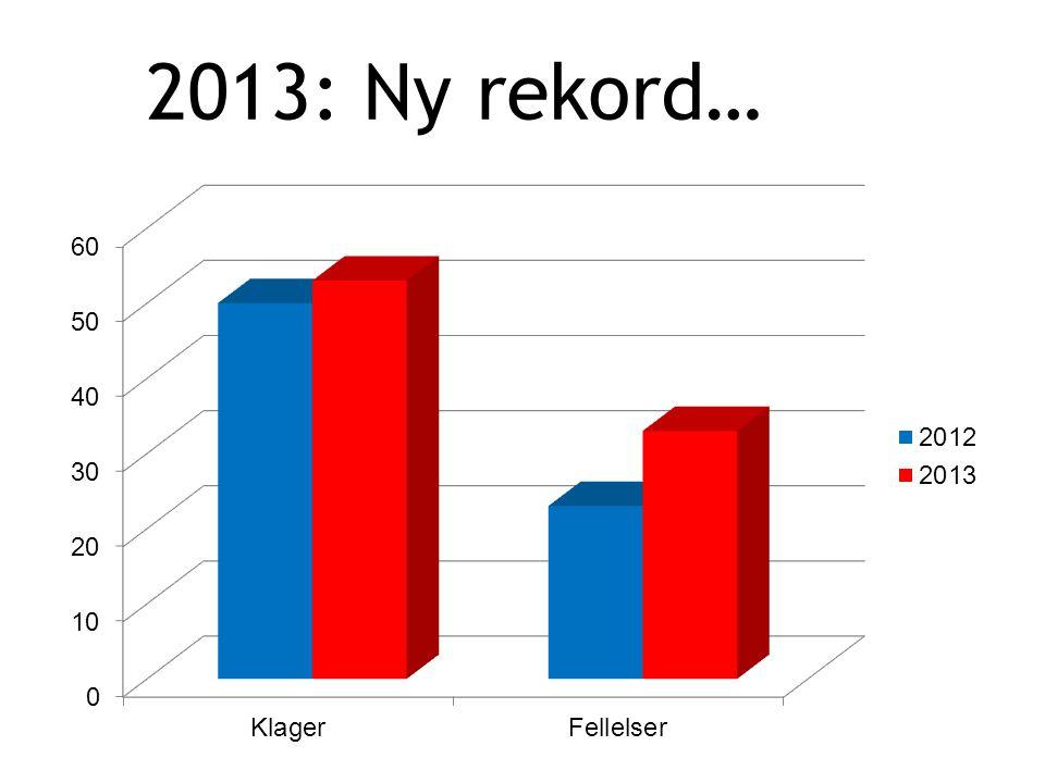 2013: Ny rekord…