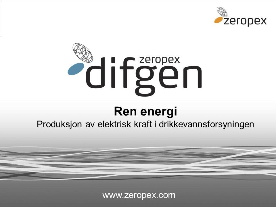 difgen Ren energi Produksjon av elektrisk kraft i drikkevannsforsyningen www.zeropex.com