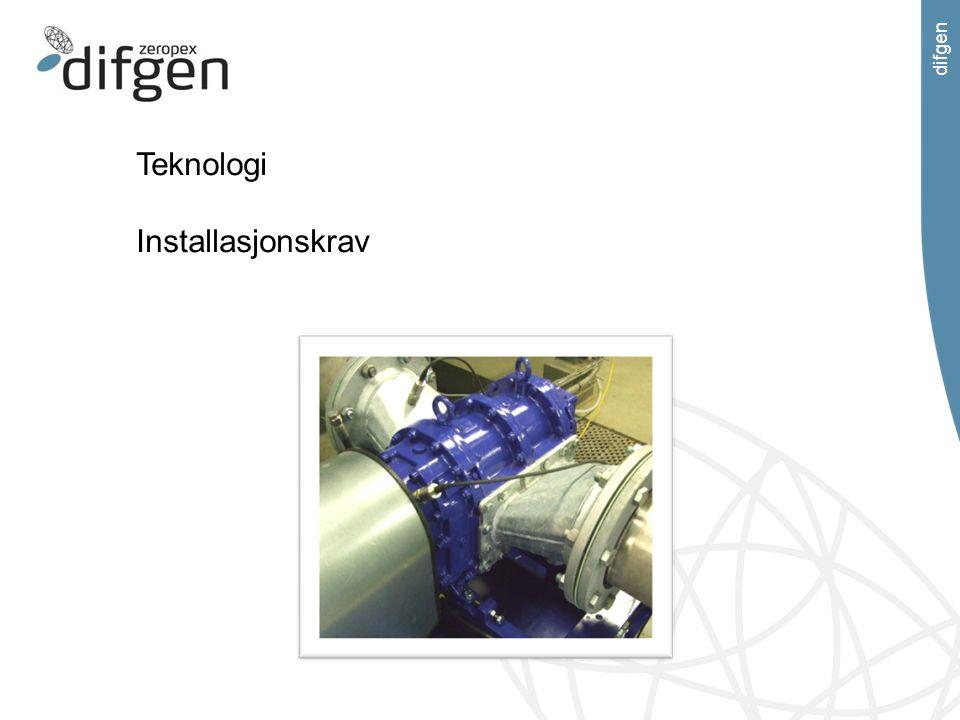 difgen Teknologi Installasjonskrav
