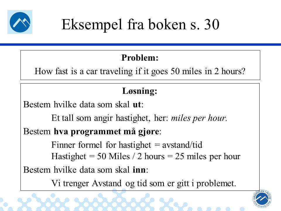 Jæger: Robuste og sikre systemer Eksempel fra boken s.