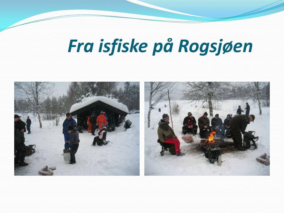 Fra isfiske på Rogsjøen