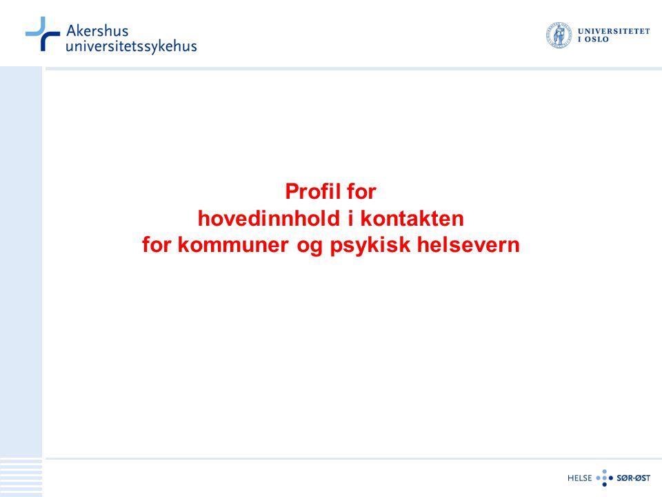 Profil for hovedinnhold i kontakten for kommuner og psykisk helsevern